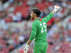 Southampton's Paulo Gazzaniga - Photo mandatory by-line: Joe Meredith/JMP - Mobile: 07966 386802 21/07/2014 - SPORT - FOOTBALL - Swindon - County Ground - Swindon Town v Southampton