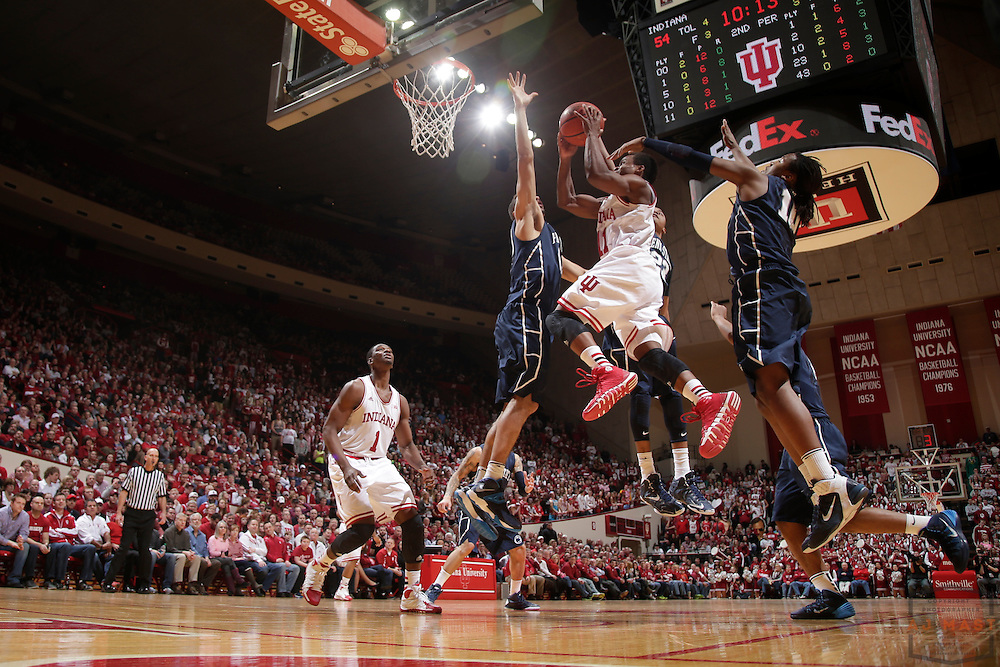 12 February 2014: Indiana Guard Kevin Yogi Ferrell (11) as the Indiana Hoosiers played Penn State in a college basketball game in Bloomington, Ind.