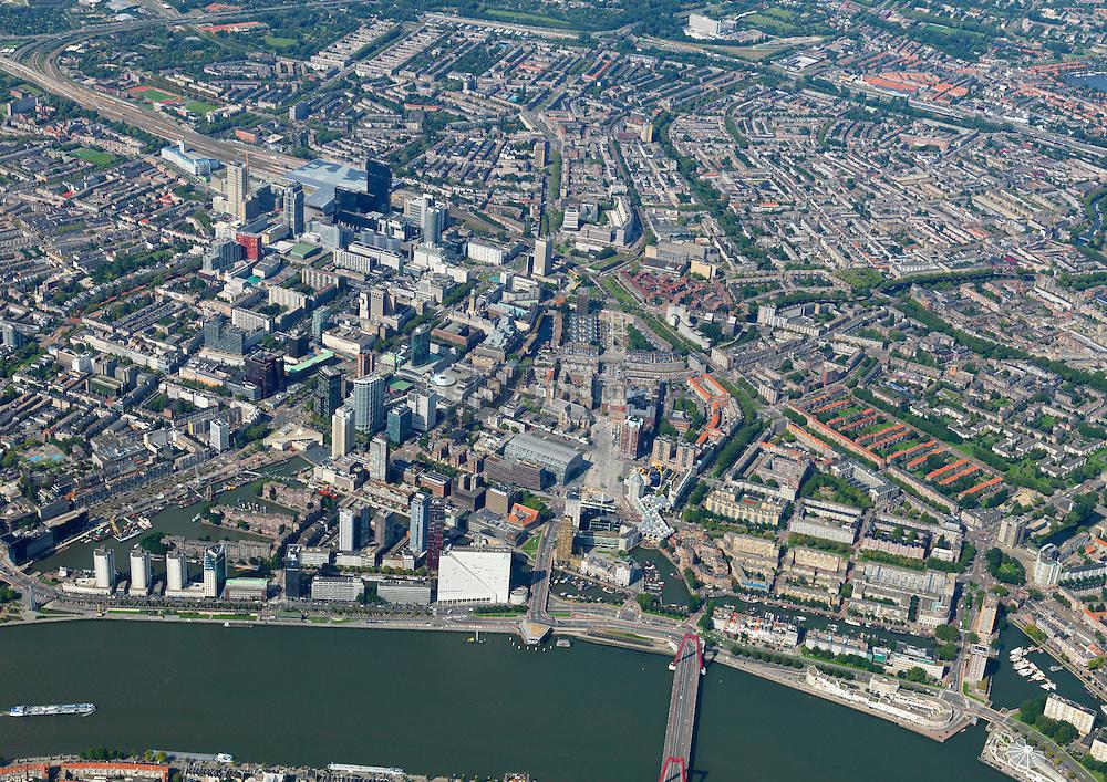 Stadsdriehoek van Rotterdam was in het verleden de hele stad Rotterdam en is na eeuwen nog herkenbaar