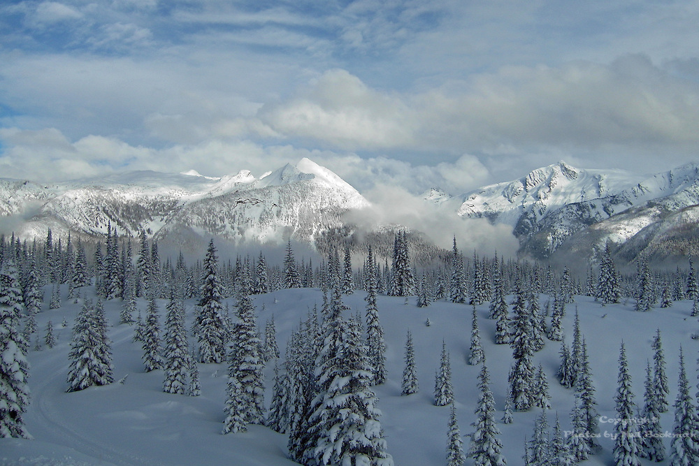 The Monashee Mountains in Winter.