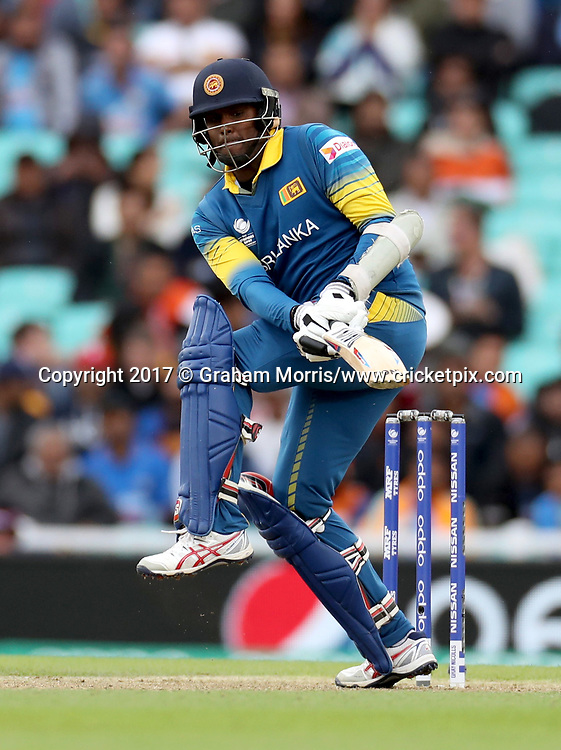 Angelo Mathews bats during the Champions Trophy One Day International between India and Sri Lanka at The Oval. 8 June 2017. Photo: Graham Morris/www.cricketpix.com / www.photosport.nz