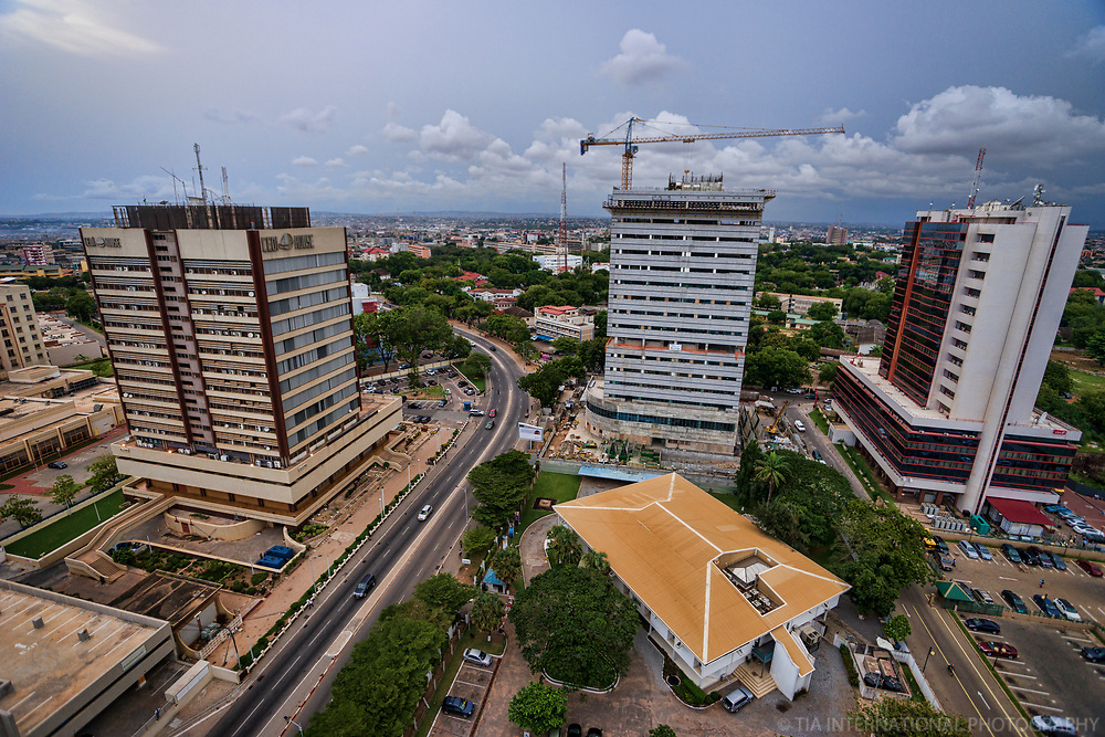 Cedi House, Ghana Export Promotion Council & Heritage Towers (left to right)