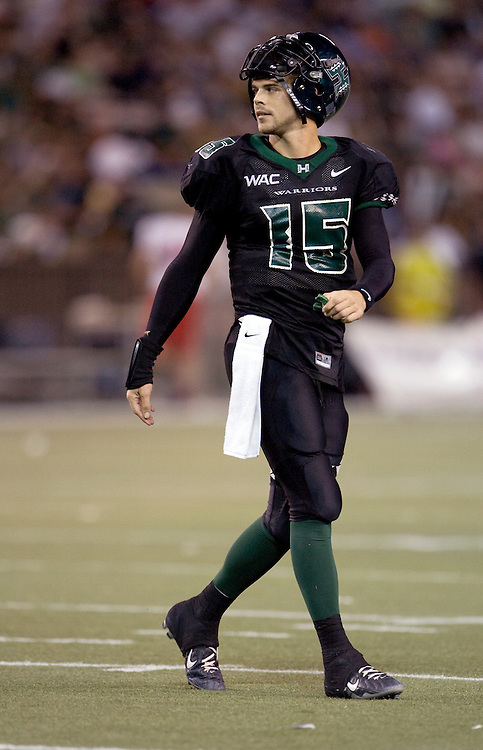 University of Hawaii Warriors quarterback Colt Brennan