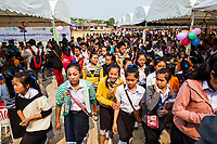 Students at the opening ceremony of the Japanese Encephalitis vaccination campaign in Xieng Khouang province, Laos.