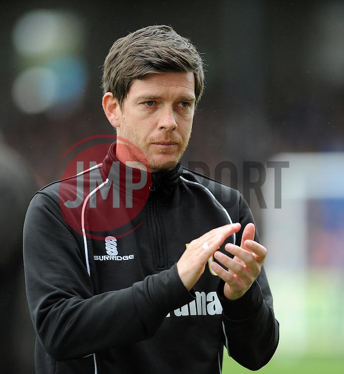 Bristol Rovers Manager, Darrell Clarke - Photo mandatory by-line: Neil Brookman/JMP - Mobile: 07966 386802 - 03/04/2015 - SPORT - Football - Bristol - Memorial Stadium - Bristol Rovers v Chester - Vanarama Football Conference