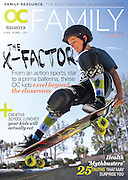 Skateboarder Taylor Nye for the cover of OC Family magazine.