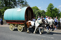 © Licensed to London News Pictures. 06/06/2013. Appleby, UK. The annual gathering of gypsies and travellers at the Appleby Horse Fair in Appleby, Cumbria. The event remains one of the largest and oldest events in Europe and gives the opportunity for travelling communities to meet friends, celebrate their music, their folklore and to buy and sell horses. The five day event has existed under the protection of a charter granted by King James II in 1685 and it remains the most important event in the gypsy and traveller calendar. Photo credit : Ian Forsyth/LNP