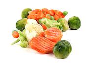 Close-up of frozen food<br /> vegetables