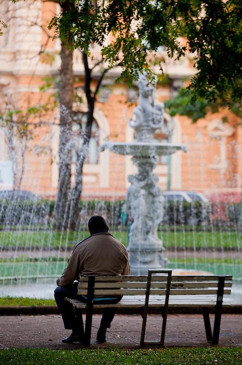 Belo Horizonte, Brasil...Chafariz em na Praca da Liberdade em Belo Horizonte, Minas Gerais...Fountain in Liberdade square in Belo Horizonte, Minas Gerais., ..Foto: BRUNO MAGALHAES / NITRO
