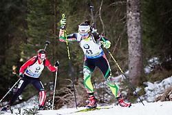 Iryna Kryuko (BLR) competes during Women 10 km Pursuit at day 3 of IBU Biathlon World Cup 2015/16 Pokljuka, on December 19, 2015 in Rudno polje, Pokljuka, Slovenia. Photo by Ziga Zupan / Sportida