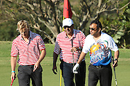 marc Rosenberg, Venkat Vardhan and Rahul Sanghvi during the Airtel CLT20 golf day held at Zimbali Country Estate outside Durban in Kwa Zulu Natal on the 23 September 2010..Photo by: Ron Gaunt/SPORTZPICS/CLT20