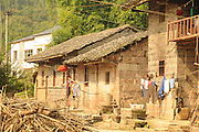 China, Xian Shaanxi, Moslem Quarters, Old mud brick house