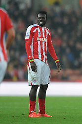 Stoke's Mame Biram Diouf cuts a dejected figure - Photo mandatory by-line: Dougie Allward/JMP - Mobile: 07966 386802 - 29/10/2014 - SPORT - Football - Stoke - Britannia Stadium - Stoke City v Southampton - Capital One Cup - Fourth Round