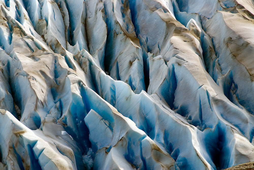 Detail of the Grey Glacier in Torres Del Paine National Park, Patagonia, Chile.