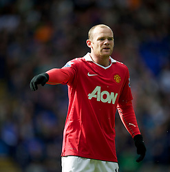 BOLTON, ENGLAND - Sunday, September 26, 2010: Manchester United's Wayne Rooney looks dejected during his side's 2-2 draw against Bolton Wanderers during the Premiership match at the Reebok Stadium. (Photo by David Rawcliffe/Propaganda)