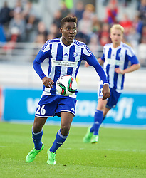 HELSINKI, FINLAND - Friday, July 31, 2015: HJK Helsinki's Obed Malolo in action against Liverpool during a friendly match at the Olympic Stadium. (Pic by David Rawcliffe/Propaganda)