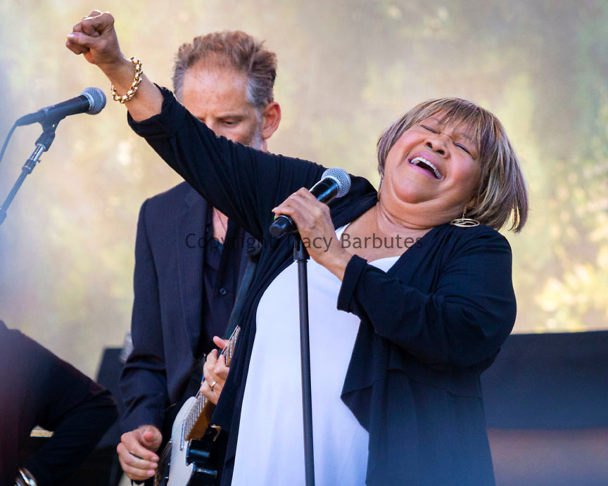 October 4, 2014<br /> MAVIS STAPLES performs at the Hardly Strictly Bluegrass Festival in Golden Gate Park, San Francisco, California, on Saturday, October 4, 2014. The annual festival, a free event, runs through Sunday, October 5, 2014. <br /> <br /> Hardly Strictly Bluegrass, conceived and subsidized by San Francisco venture capitalist Warren Hellman, has been held every year since the first event in 2001.