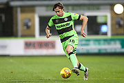 Forest Green Rovers Theo Archibald(18) runs forward during the EFL Trophy group stage match between Forest Green Rovers and U21 Arsenal at the New Lawn, Forest Green, United Kingdom on 7 November 2018.