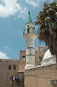 Israel, Acre, a steeple of a mosque in the old city