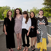 11.05. 2017.                                                 <br /> Over 20 leading Irish and international fashion media and influencers converged on Limerick for 24 hours on, Thursday, 11th May for a showcase of Limerick's fashion industry, culminating with Limerick School of Art & Design, LIT, presenting the LSAD 360° Fashion Show, sponsored by AIB.<br /> Pictured at the event were, Jessica Flatman, Schull Co. Cork, Kellie O'Rourke, Carrigallen Co. Leitrim, Grainne Wilson, Clonmel Co. Tipperary, Megan Murray, Castleshane Co. Monaghan and Alana Conlon, Greystones Co. Dublin. Picture: Alan Place
