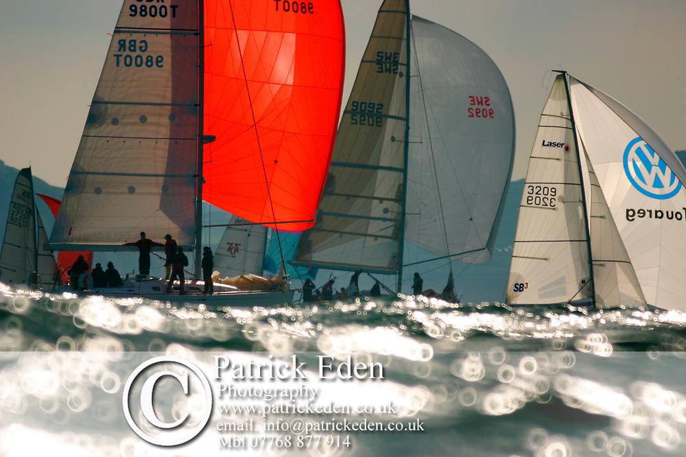 FLEET FRESHWATER, GBR 9800T, SWE 9092, 3209 SB3, Round the Island Race, 2007, The Needles, Isle of Wight, UK, Sports Photography