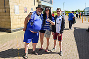 Oldham Athletic fans  during the EFL Sky Bet League 1 match between Northampton Town and Oldham Athletic at Sixfields Stadium, Northampton, England on 5 May 2018. Picture by Dennis Goodwin.