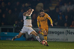 NEWPORT, WALES - Wednesday, December 21, 2016: Newport County's Josh Sheehan in action against Plymouth Argyle during the FA Cup 2nd Round Replay match at Rodney Parade. (Pic by David Rawcliffe/Propaganda)