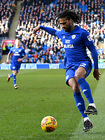 Football - 2017 / 2018 Sky Bet EFL Championship - Cardiff City vs. Middlesbrough<br /> <br /> Armand Traore of Cardiff City attacks, at Cardiff City Stadium.<br /> <br /> COLORSPORT/WINSTON BYNORTH