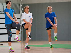 Mirjeta Barjamoska during practice session of RK Krim Mercator on August 6, 2014 in SRC Stozice, Ljubljana, Slovenia. Photo by Urban Urbanc / Sportida