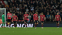 Football - 2018 / 2019 Premier League - Tottenham Hotspur vs. Southampton <br /> <br /> Southampton players trudge back to their positions after they concede the second goal at Wembley Stadium.<br /> <br /> COLORSPORT/DANIEL BEARHAM