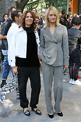 Roberta Armani, Amber Valletta pose to the fashion show at Armani Theatre during the Milan Fashion Week - Collection 2018 on September 22, 2017 in Milan, Italy. Photo by Marco Piovanotto/Abacapress.com