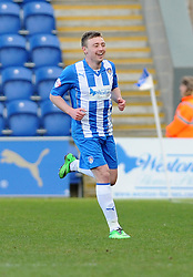 Colchester United's Freddie Sears celebrates his goal. - Photo mandatory by-line: Dougie Allward/JMP - Mobile: 07966 386802 22/03/2014 - SPORT - FOOTBALL - Colchester - Colchester Community Stadium - Colchester United v Bristol City - Sky Bet League One