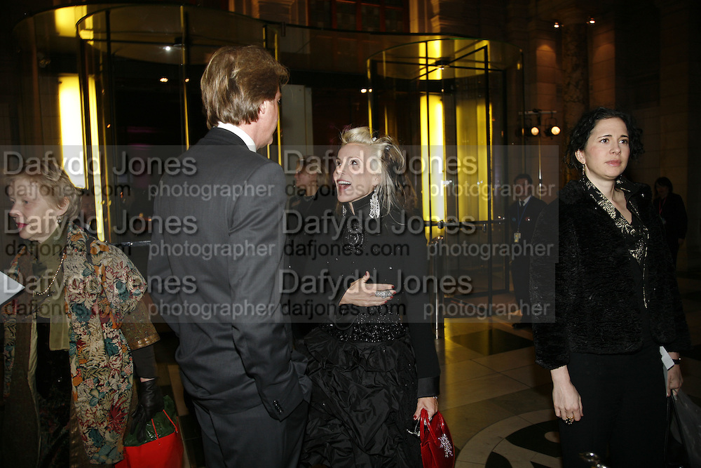 Robin Hurlestone and Daphne Guinness, Party to celebrate the Christian Lacroix Fashion in Motion fashion show and the opening of  M/M Paris: Antigone Under Hypnosis part of  Paris Calling the UK-wide celebration of contemporary French culture. V. & A. London. 31 October 2006. -DO NOT ARCHIVE-© Copyright Photograph by Dafydd Jones 66 Stockwell Park Rd. London SW9 0DA Tel 020 7733 0108 www.dafjones.com