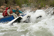 Running the rapids of the Colorado River, Grand Canyon National Park, Arizona, US