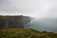 Misty view over Cliffs of Moher