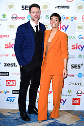 Wayne Bridge (left) and Frankie Bridge during the TRIC Awards 2019 50th Birthday Celebration held at the Grosvenor House Hotel, London.