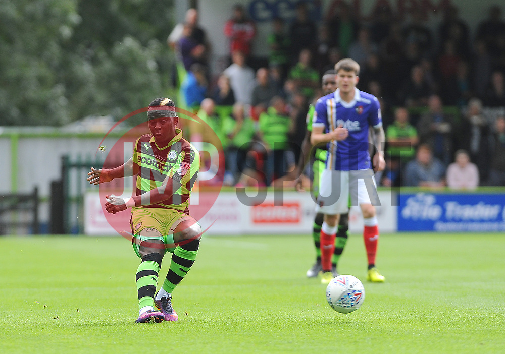 Drissa Traore of Forest Green Rovers in action- Mandatory by-line: Nizaam Jones/JMP - 09/09/2017 - FOOTBALL - New Lawn Stadium - Nailsworth, England - Forest Green Rovers v Exeter City - Sky Bet League Two