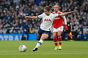 Kit Graham shoots at goal during the FA Women's Super League match between Tottenham Hotspur Women and Arsenal Women FC at Tottenham Hotspur Stadium, London, United Kingdom on 17 November 2019.