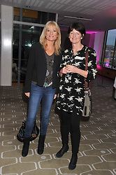 Left to right, GABY ROSLIN and BRIGID McCONVILLE director of the White Ribbon Alliance for Safe Motherhood ( UK) at a private view of photographs by Joanna Vestey entitled 'Dreams For My Daughter' in aid of The White Ribbon Alliance, held at The Royal Festival Hall, South Bank, London on 8th March 2012.