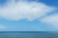 Atlantic ocean with cloudy sky, Morocco.