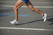 legs of a runner at the New York marathon