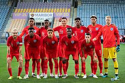 Team of England before friendly Football match between U21 national teams of Slovenia and England, on October 11, 2019 in Ljudski Vrt, Maribor, Slovenia. Photo by Blaž Weindorfer / Sportida