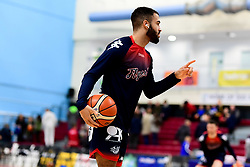 Lewis Champion of Bristol Flyers warms up prior to tip off - Photo mandatory by-line: Ryan Hiscott/JMP - 17/01/2020 - BASKETBALL - SGS Wise Arena - Bristol, England - Bristol Flyers v London City Royals - British Basketball League Championship