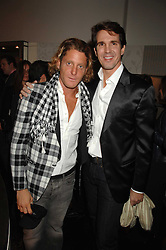 Left to right, LAPO ELKANN and CROWN PRINCE PAVLOS OF GREECE at a party hosted by Allegra Hicks to launch Lapo Elkann's fashion range in London held at Allegra Hicks, 28 Cadogan Place, London on 14th November 2007.<br />