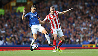 Football - 2017 / 2018 Premier League - Everton vs. Stoke City<br /> <br /> Kevin Mirallas of Everton and Ryan Shawcross of Stoke City at Goodison Park.<br /> <br /> COLORSPORT/LYNNE CAMERON