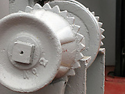 Anchor chain gear, rustic, painted white.