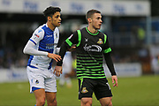 Bristol Rovers Daniel Leadbitter (2) and   Doncaster Rovers Tommy Rowe (10) during the EFL Sky Bet League 1 match between Bristol Rovers and Doncaster Rovers at the Memorial Stadium, Bristol, England on 23 December 2017. Photo by Gary Learmonth.