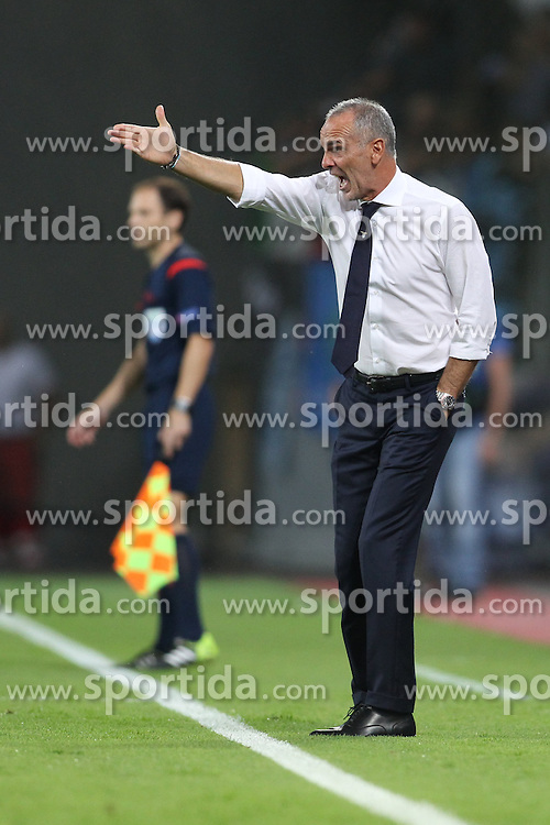 26.08.2015, BayArena, Leverkusen, GER, UEFA CL, Bayer 04 Leverkusen vs Lazio Rom, Playoff, R&uuml;ckspiel, im Bild Trainer Stefano Pioli (Lazio Rom) // during UEFA Champions League Playoff 2nd Leg match between Bayer 04 Leverkusen and SS Lazio at the BayArena in Leverkusen, Germany on 2015/08/26. EXPA Pictures &copy; 2015, PhotoCredit: EXPA/ Eibner-Pressefoto/ Schueler<br /> <br /> *****ATTENTION - OUT of GER*****