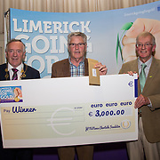10.10. 2017. <br /> Mayor of the City and County of Limerick Cllr Stephen Keary and Noel Earlie, JP McManus Charitable Foundation presented  the Going for Gold 2017 Challenge Category 4th place to Oola (€3000) accepted by John Landers .<br /> <br /> <br /> Limerick Going for Gold, which is sponsored by the JP McManus Charitable Foundation, has a total prize pool of over €75,000.  It is organised by Limerick City and County Council and supported by Limerick's Live 95FM, The Limerick Leader and The Limerick Chronicle, The Limerick Post, Parkway Shopping Centre, I Love Limerick and Southern Marketing Media & Design. Picture: Alan Place