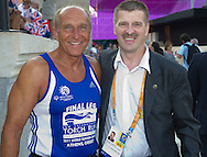 (L) Jacek Huhulski & (R) Krzysztof Krukowski - Director Organizational Development Europe Eurasia Region Special Olympics while Opening ceremony during 2011 Special Olympics World Summer Games Athens on June 25, 2011..The idea of Special Olympics is that, with appropriate motivation and guidance, each person with intellectual disabilities can train, enjoy and benefit from participation in individual and team competitions...Greece, Athens, June 25, 2011...Picture also available in RAW (NEF) or TIFF format on special request...For editorial use only. Any commercial or promotional use requires permission...Mandatory credit: Photo by © Adam Nurkiewicz / Mediasport